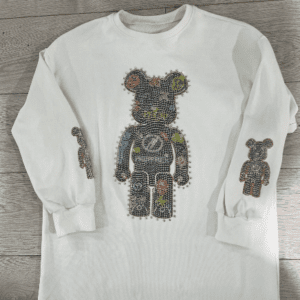 Multi coloured crystal bear top